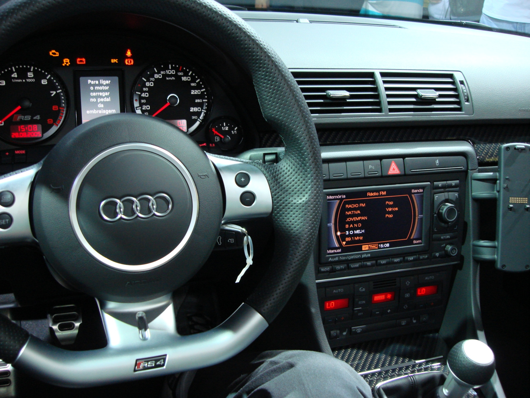 Audi RS4 Avant interior, you'-d be pretty comfortable in here ...